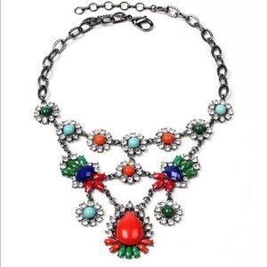 Amrita Singh Austrian Crystal /& Gunmetal Leah Bib Necklace